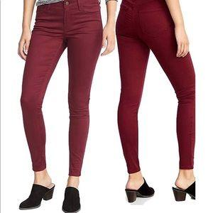 High-Waisted Pop-Color Rockstar Super Skinny Jeans